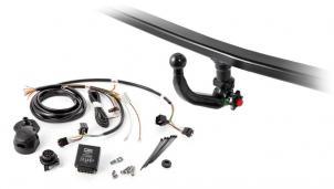 Set bestehend aus Anhängekupplung abnehmbar und Elektrosatz fahrzeugspezifisch